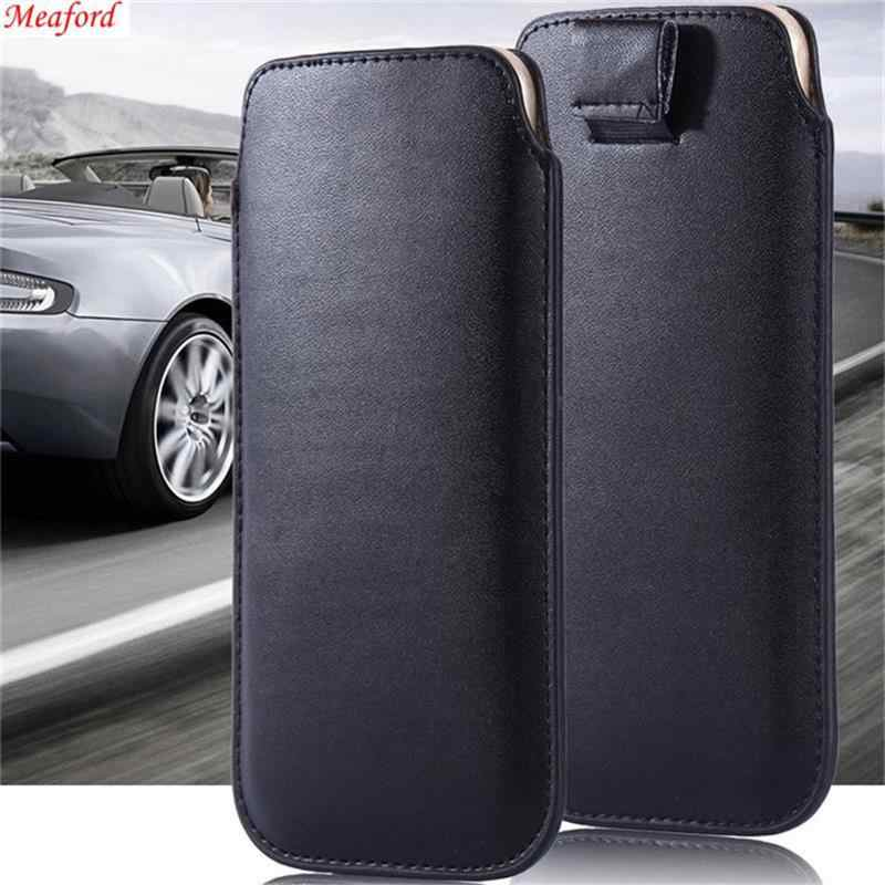 Universal Leather Case Voor Huawei Honor V30 Pro Magic 2 Mate 30 20 Lite Y9 2019 Honor 8X Nova 3 3i 9X Spelen 10 7x Case Telefoon Tas