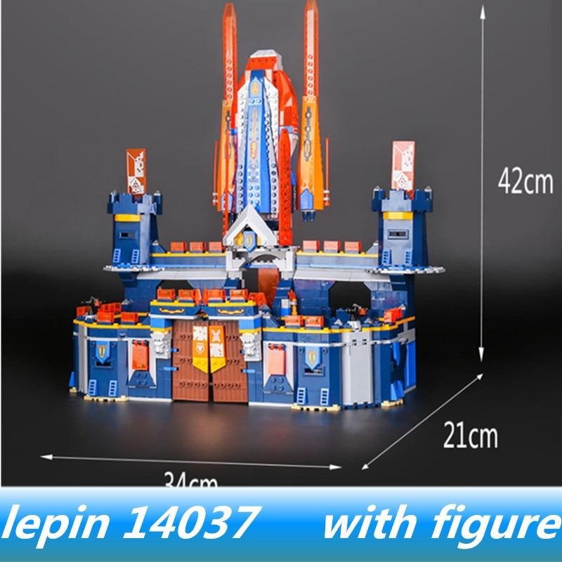 Lepin 14037 lepin Knights Knighton Castle Model Compatible Legoing nexo knights 70357 legoing Knights Castle Building Blocks