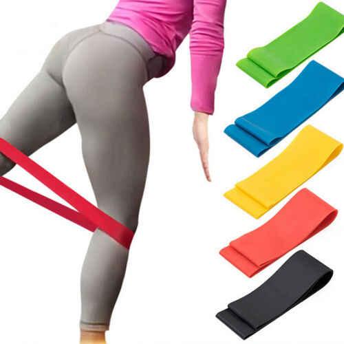 5 kolorów odporność na joga opaski gumowe kryty sprzęt do ćwiczeń na świeżym powietrzu 0.35mm-1.1mm Pilates trening sportowy trening Opaski elastyczne