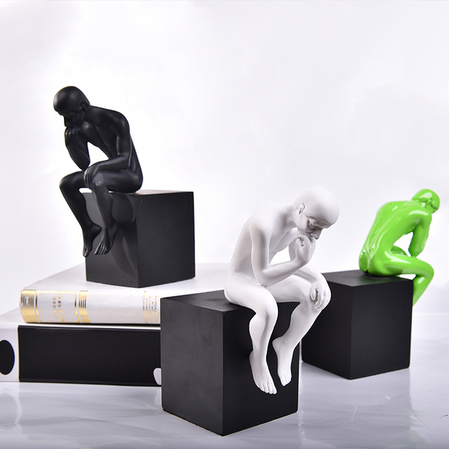 Classic simple modern thinker figure statue home furnishings ...