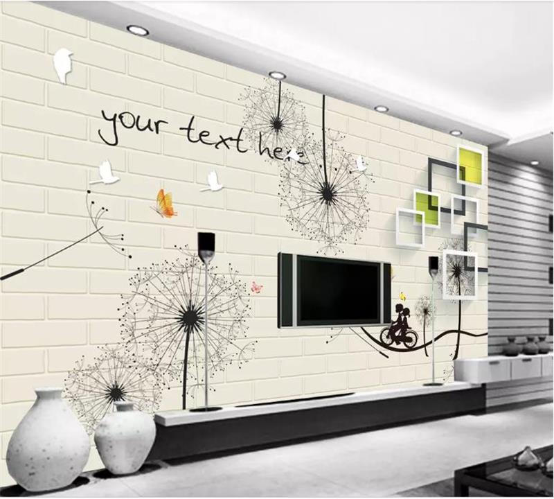 Learned 3d Photo Wallpaper Custom Size Mural Kids Room Livingroom Square And Dandelion Picture Sofa Tv Background Wall Non-woven Sticker Volume Large Wallpapers