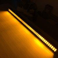 52 300 Вт белый Янтарный Строб двойной цвет переключаемый пульт дистанционного управления светодиодный рабочий свет бар пятно наводнение ко