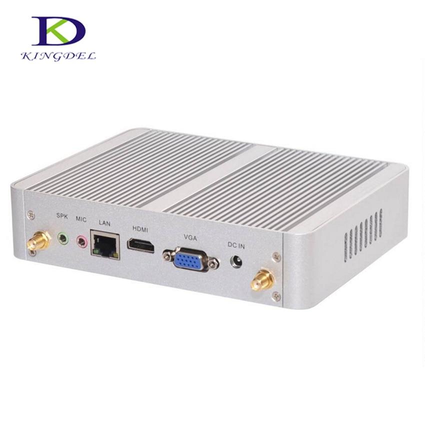 Intel Nuc Fanless Desktop Mini PC HTPC With Core I3 4005U Dual Core,USB3.0,VGA,HDMI,WIFI,3D Game Support,Nettop Computer TV Box
