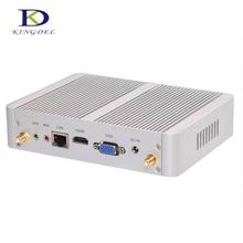 Intel Nuc Безвентиляторный Рабочего Mini PC HTPC с Core i3 4005U Dual Core, USB, VGA, HDMI, WI-FI, поддержка 3d-игры, Неттоп Компьютер TV Box