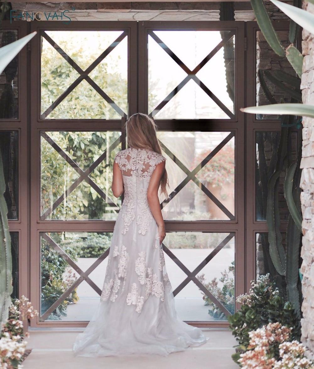 Beach Boho svatební šaty rukávy Vintage Plus velikost Lace - Svatební šaty - Fotografie 2