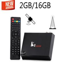 KII Pro Bluetooth 4.0 Android 5.1 Inteligente android TV Box S905 Amlogic 2 GB/16 GB wifi Apoyo DVB-S2/DVB-T2 pk k1 más kiii
