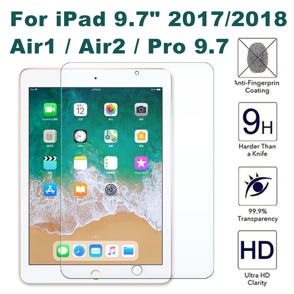 Glass For Ipad 9.7 2018 Screen Protector 2017 4th 5th 6th Gen Air 1 2 A1893 A1954 Protective Tempered Glas Pro 9 7 A1822 A1823