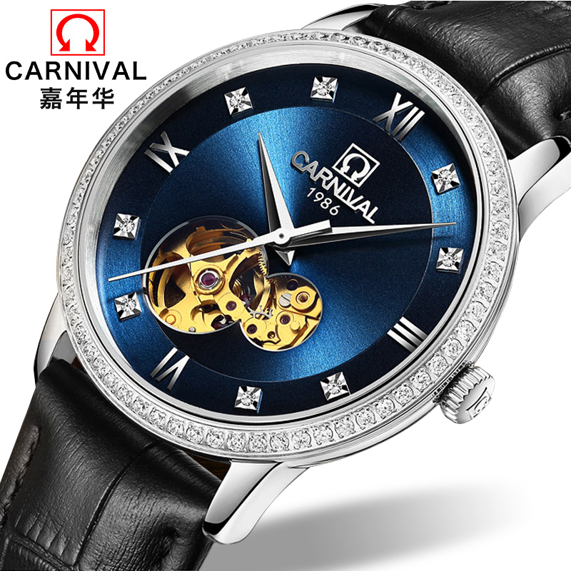 Carnival Watch Men Japan MIYOTA 8N24 Automatic Mechanical Brand Luxury Men Watches Sapphire reloj hombre Diamond Clock C5676-4 wrist switzerland automatic mechanical men watch waterproof mens watches top brand luxury sapphire military reloj hombre b6036