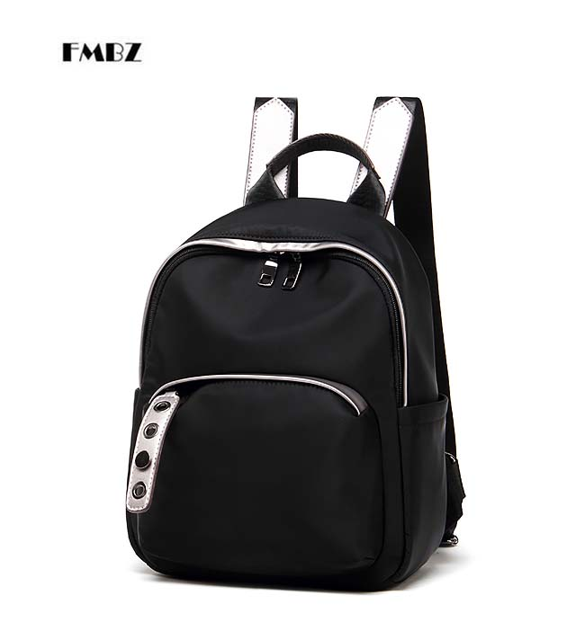 FMBZ shoulder bag female bag 2018 new Woman backpack wave wild simple backpack with leather nylon Oxford cloth free shipping цена 2017