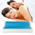 Sono Ortopédicos Azul Cooling Gel Conforto Da Espuma Da memória Cama Travesseiro Almofada