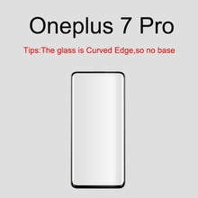Luxury 9H HD All Cover Curved Screen Protective Film Tempered protector Glass Case For One Plus 7 Pro Smartphone Global Version