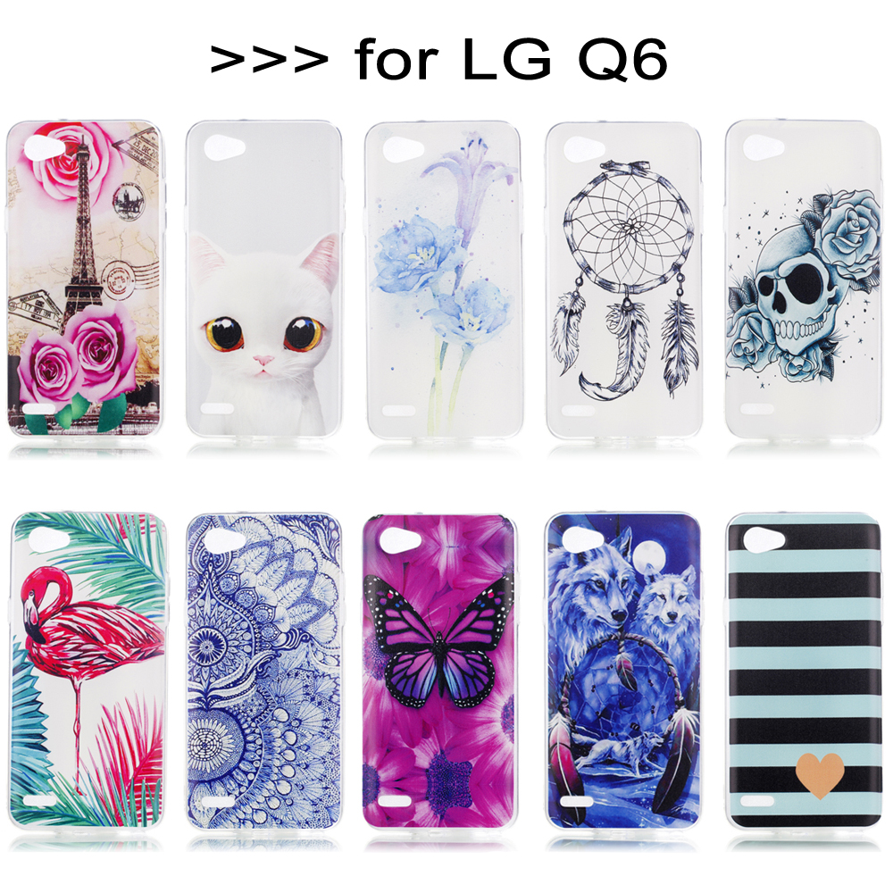 Case For LG Q6 M703 M700Y M700AN LGM700 M700 Silicone TPU Back Cover For LG Q 6