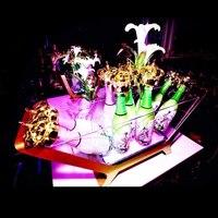 Y189 Chopeira стойки держатель бутылки вина светодио дный LED зарядки ведро льда 6/12 бсветодио дный от шампанское размеры лодка форме бар настройки