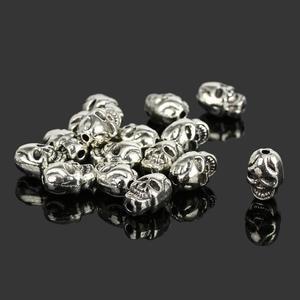 1b3143544 lae1sa 50Pcs DIY Beads Skull Fit Charms Accessories
