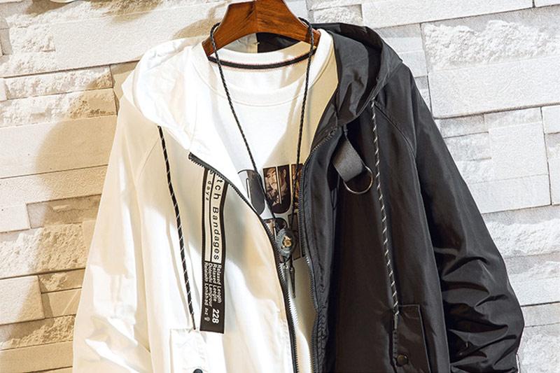 HTB1r9Y0d3mH3KVjSZKzq6z2OXXa6 Men's bomber Jacket Colorblock Jacket Fashion Sportswear Casual Jacket Men's Hip Hop Street Suit 2019 New Hooded Jacket