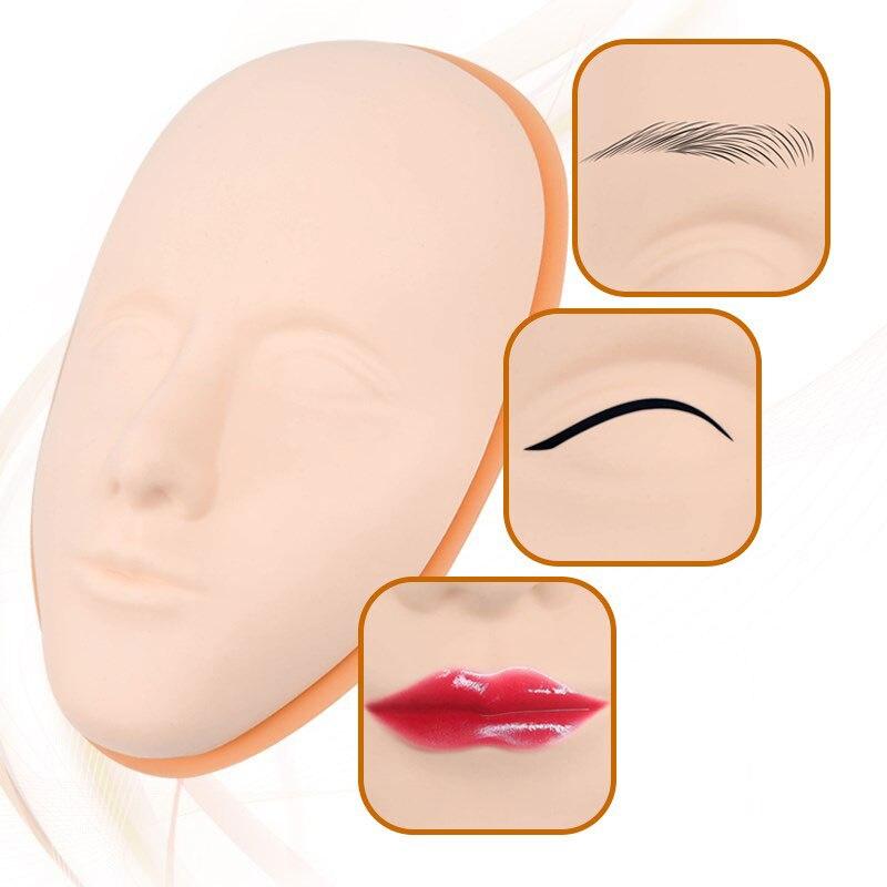 Полуперманентная кожа для практики татуировки, искусственное лицо человека, силиконовая поддельная кожа для бровей, имитация кожи рук, 5D Та...