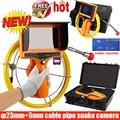 CCD 600TVL цветной видеорегистратор эндоскоп змеиная камера с 5 мм стекловолоконным кабелем Водонепроницаемая труба канализационная Инспекцио...