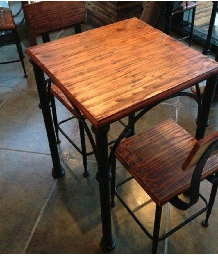 madera de hierro mesas de comedor y sillas combinacin para hacer los viejos antiguos de madera mesas de caf y sillas combinacin de mesa de madera maciza