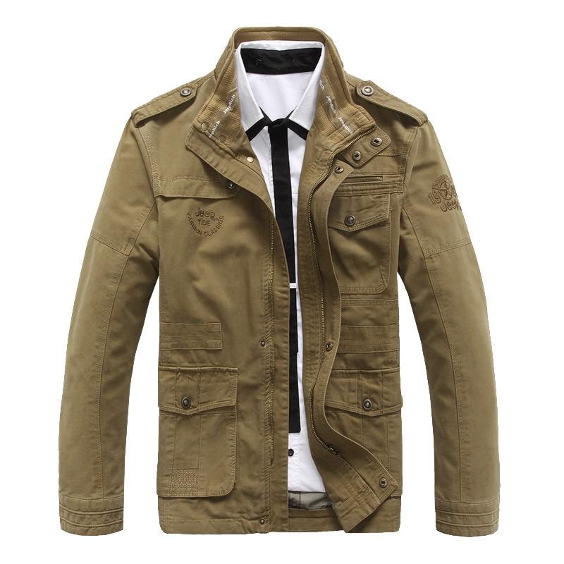 Transfrontalier printemps et automne décontracté col veste hommes coton veste lavé jeunesse plein air grande taille sport coupe-vent