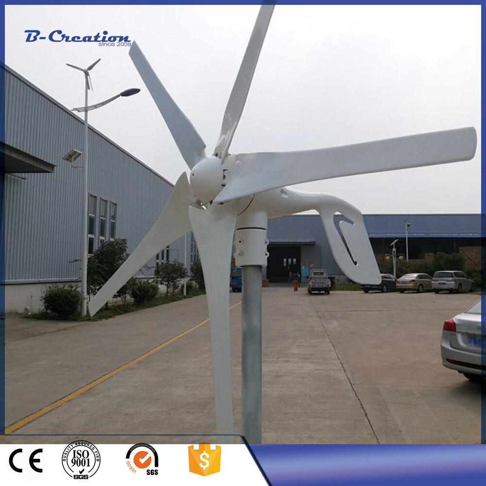 2017 New Arrival New Gerador De Energia Small Wind Generator/max 600w 12v/24v For Turbine Generator & Waterproof Controller