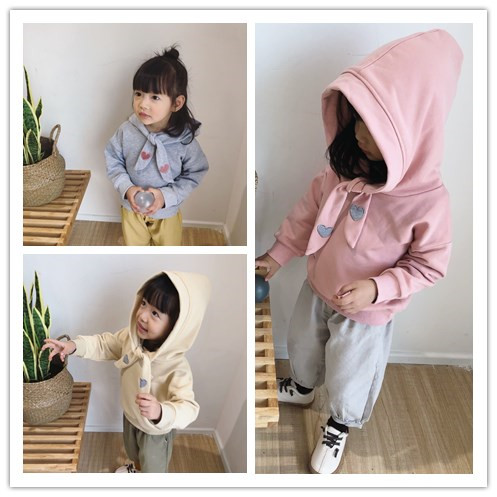 1-6 years Wholesale New 2018 Spring Hooded Kids Girls Jackats (pick size color) 164TP0105