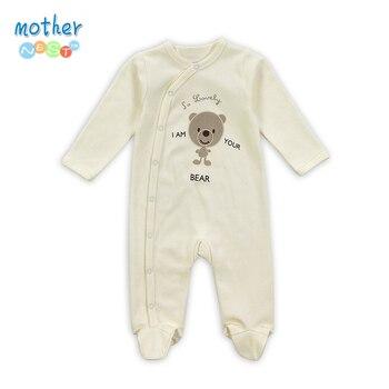 Detal nowy Arrival100 % czystej bawełny Baby pajacyki dla dzieci dziewczyna chłopiec dziecko piżamy słodki miś noworodka krótki kombinezon i długi kombinezon produkt dla dzieci