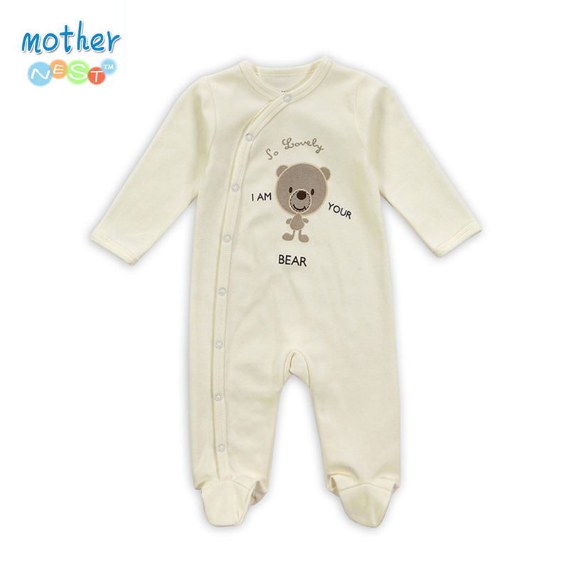 Retail New Arrival100% Pure Cotton Baby Rompers Girl Boy Baby Pajamas Cute Bear Newborn Next Jumpsuits & Rompers Baby Product retail new arrival100