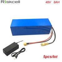 5pcs Lot Hot Sale Electric Bike Battery 48V 8Ah Li Ion 48 Volt 18650 Battery Pack