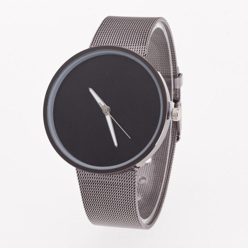 Newly Fashion Quartz Watch Casual Ladies Watch Men Women Watches Stainless Steel Mesh Belt Analog Wrist Watches Drop Shipping