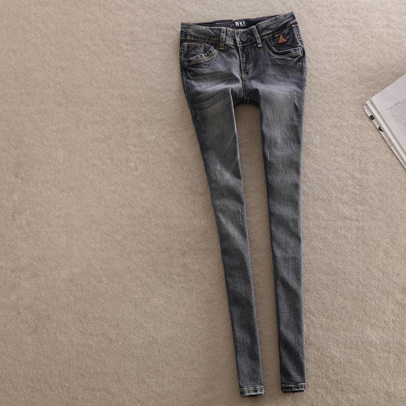 WQJGR Forår Kvinder Låg Talje Kvinder Jeans Pencil Pants Stretch - Dametøj - Foto 4