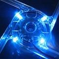 New Version Blue Quad 4-LED Light Neon Clear 140mm PC Computer Case Cooling Fan Mod Jun14