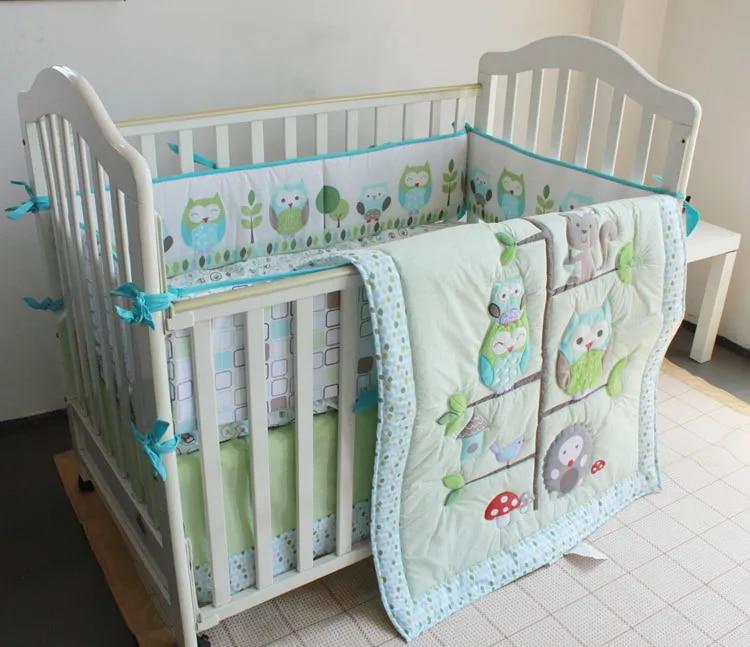 7 Pieces Set Crib Baby Bedding