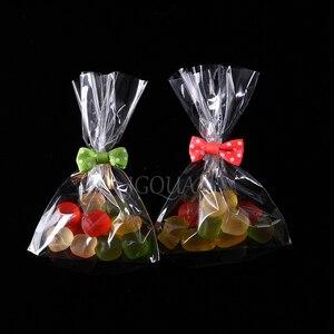 Прозрачный полиэтиленовый пакет OPP, упаковка для конфет и печенья, подарочные пакеты, праздничная упаковка на Рождество, свадьбу, день рождения, маленькие подарочные пакеты