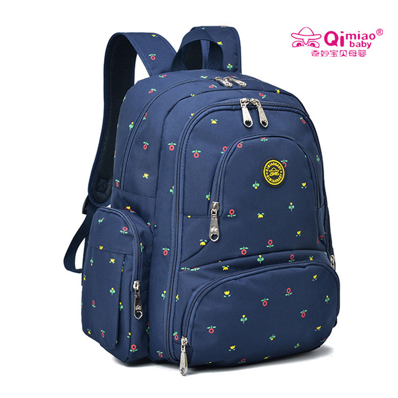 QIMIAOBABY Diaper Bag Backpack Waterproof Mom Baby Bag Stroller Bag Organizer Large Capacity Nappy Bag 7colors Free Shipping