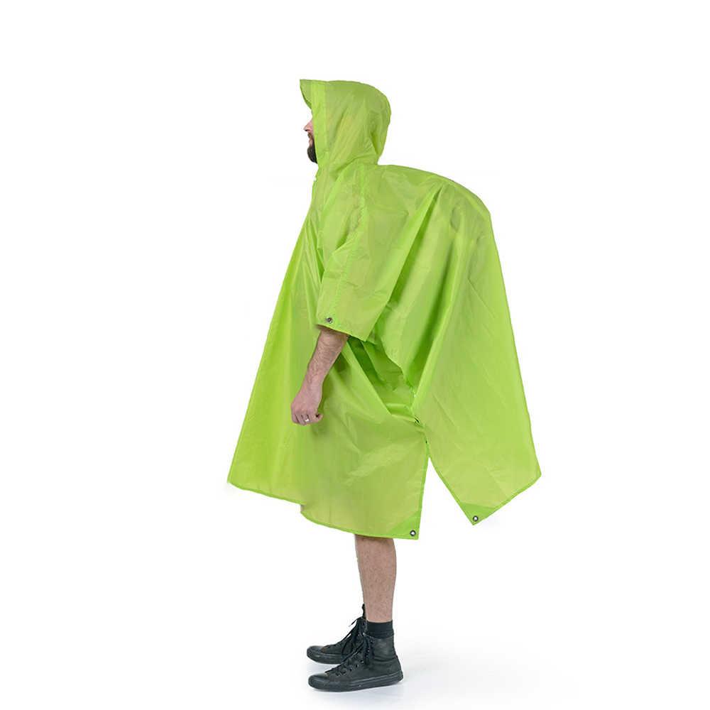 معطف واقي Naturehike في الهواء الطلق 3 في 1 معطف واق من المطر قماش القنب الصغير الشمس المأوى التنزه الظهر التنزه السفر غطاء مقاوم للمطر التخييم ظلة