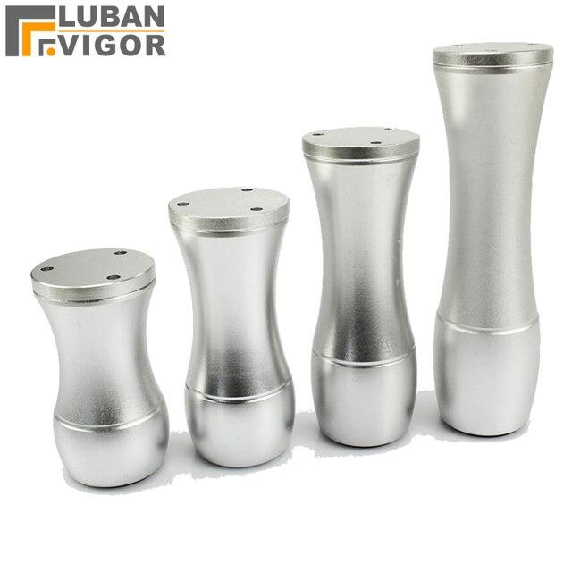 Tischfüsse matt silberne oberfläche aluminium möbel beine mehr stark