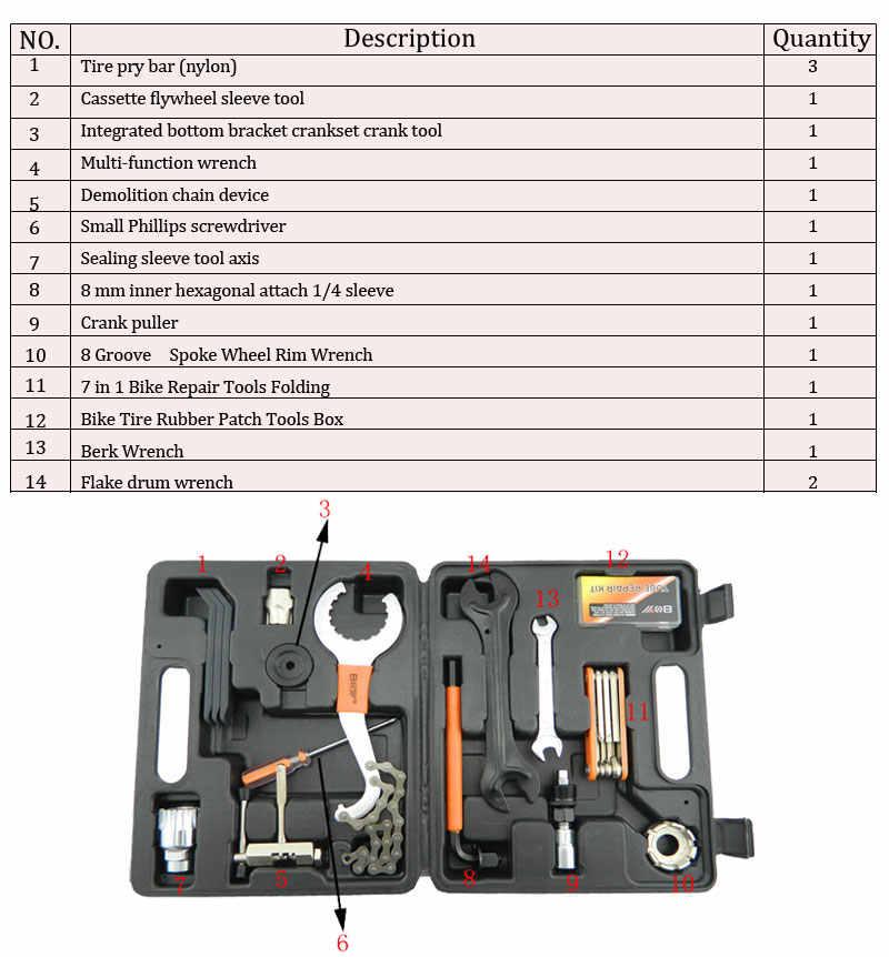 Outils de bicyclette pour l'entretien de l'outil de réparation de VTT