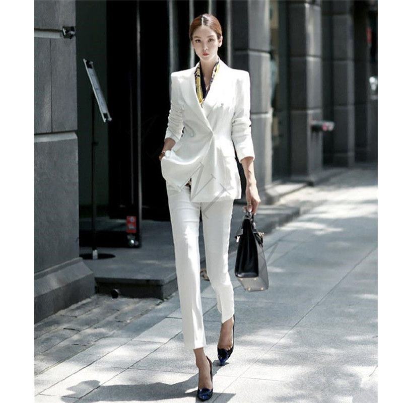 Office Uniform Designs Womens Suit Blazer With Pants Formal Suits For Weddings Womens Trouser Suit Office Lady Suit Lady Uniform Women Suits Women Suits With Pantsladies Uniform Suits Aliexpress