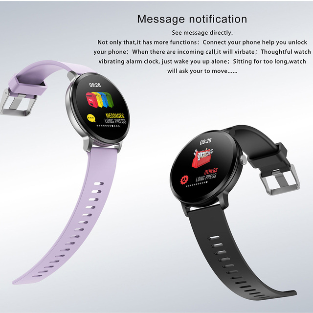 LEMFO V11 Smart Watch 1.3 Inch 240*240 Tempered Glass Screen IP67 Waterproof Heart Rate Monitoring Blood Pressure For Men Women
