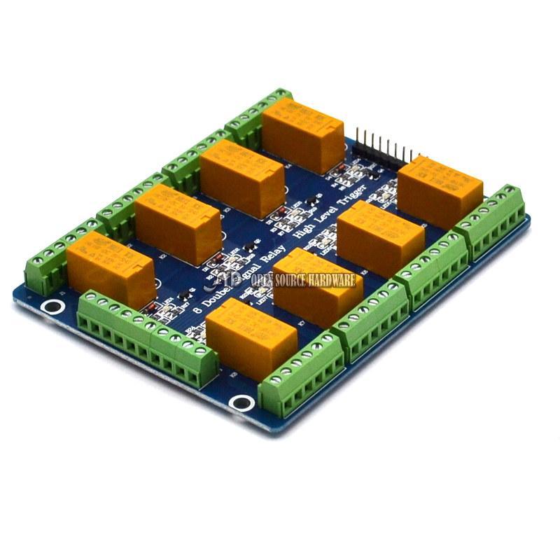 Módulo de Controlador de Motor de L298P de CC Keyes H-Puente Tablero de canal 2 para Arduino Uno de la UE