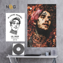 NOOG Lil Peep Wall Art Poster Pictures Hiphop Posters And Prints Canvas Painting For Nordic Living Room Decor