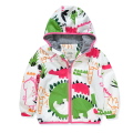 2016 Softshell Jacket Kids Coatchildren Jacket Boys Outerwear dinosaur cartoon Active Hooded High Quality 0-7 Years