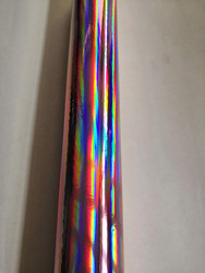 Holographic foil X05 pink plain pattern hot stamping on paper and plastic 64cm x120m