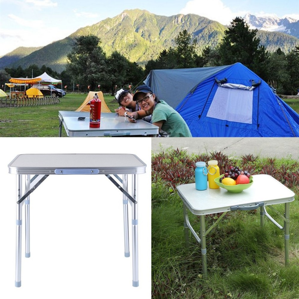 Outad folding portable picnic table aluminum height adjustable outad folding portable picnic table aluminum height adjustable indoor outdoor party dining camping table with handle in outdoor tables from furniture on watchthetrailerfo