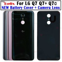New Original For 5.5\ LG Q7+ Back Battery Cover Rear Door Housing Replacement Parts For LG Q7 Battery Cover with Camera lens