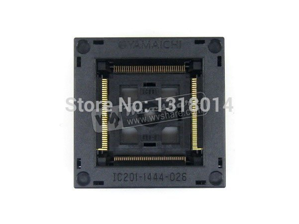 QFP144 TQFP144 FQFP144 PQFP144 IC201-1444-026 QFP Yamaichi IC Test Burn-in Socket Programming Adapter 0.5mm Pitch