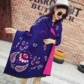 Мода кашемировый шарф люксовый Бренд женщины дизайнер Пашмины мыс перо печатных зимний шарф женщин теплые шали и шарфы