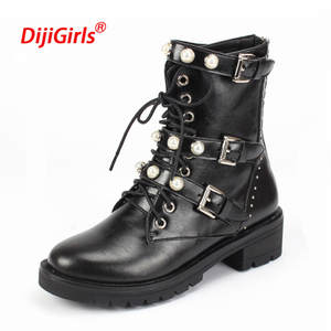 DiJiGirls 2018 Luxury Genuine Leather Winter Shoes Women b0a28f22e650
