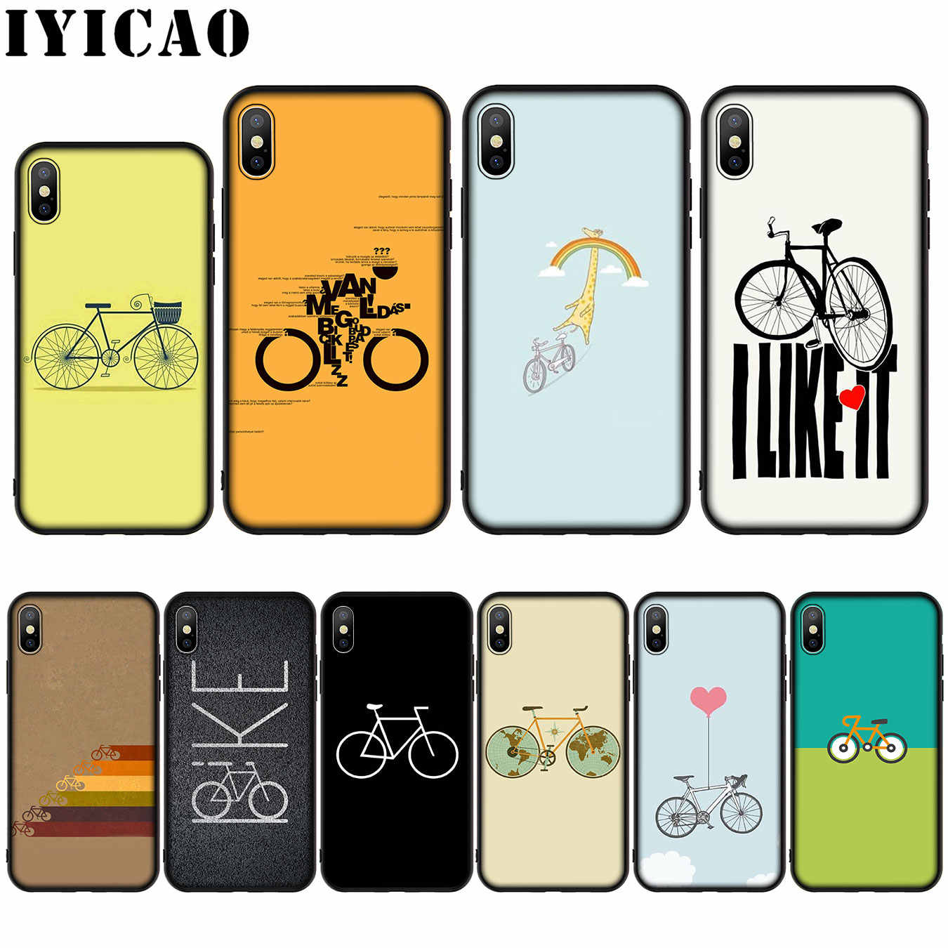 Bicycle Bike Sport Coqu Silicone Soft Case for iPhone 11 Pro Max XR X XS Max 8 7 6 6S Plus 5 5S SE Cover