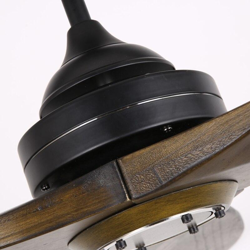 Gros Noir Industrielle Vintage Ventilateur De Plafond En Bois Sans